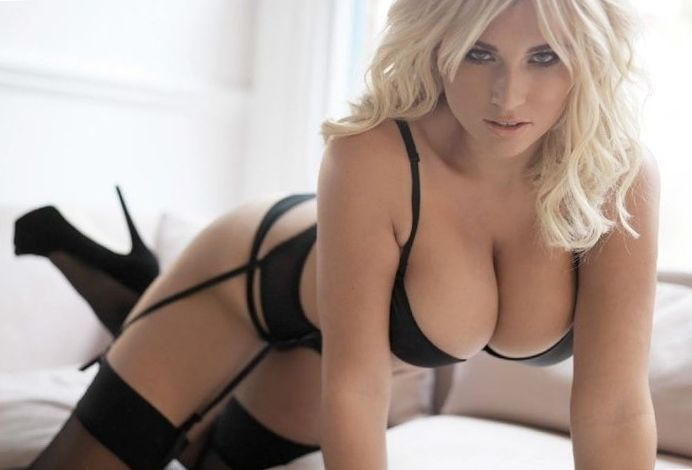 Massive boobs sexy lingerie blonde