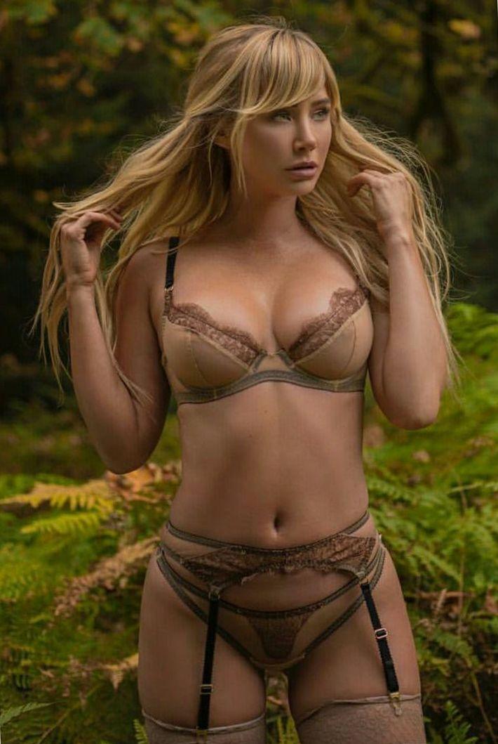 Wild blonde in lingerie