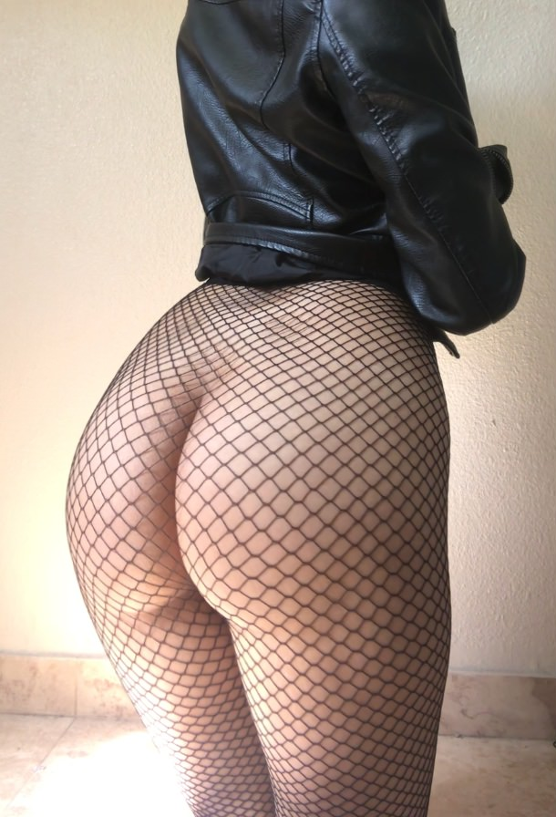 Fishnet sexy ass