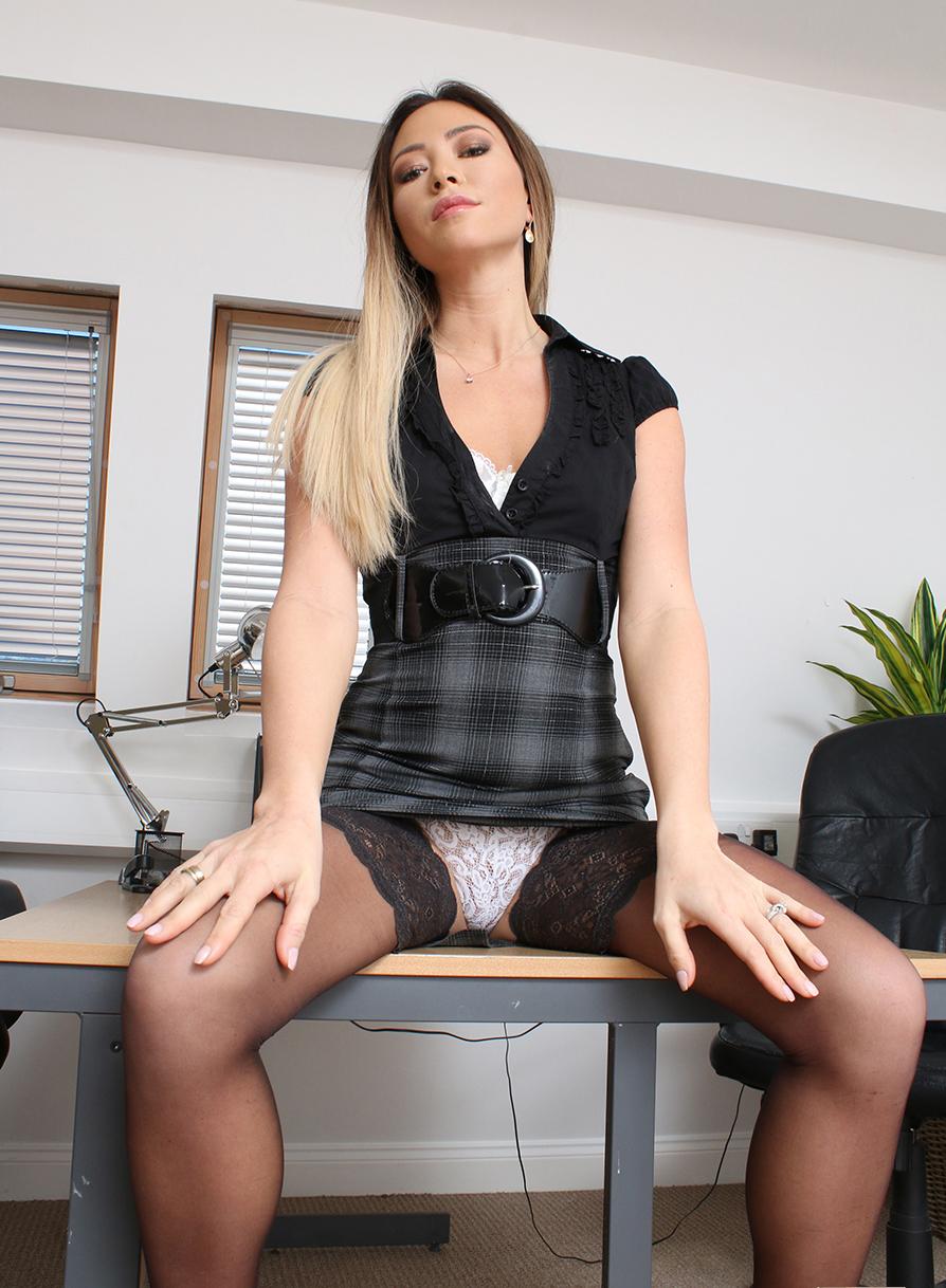 Office upskirt panty flash