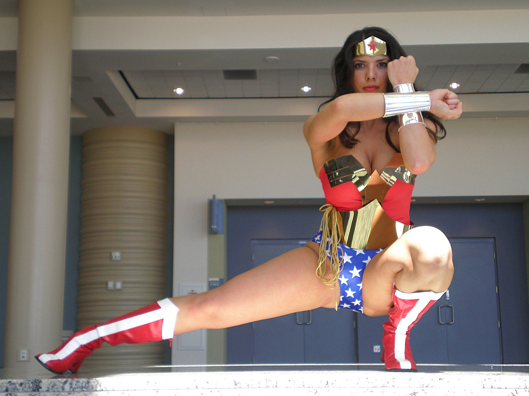 Wonder woman, a woman who is.. wel.. Wonderful