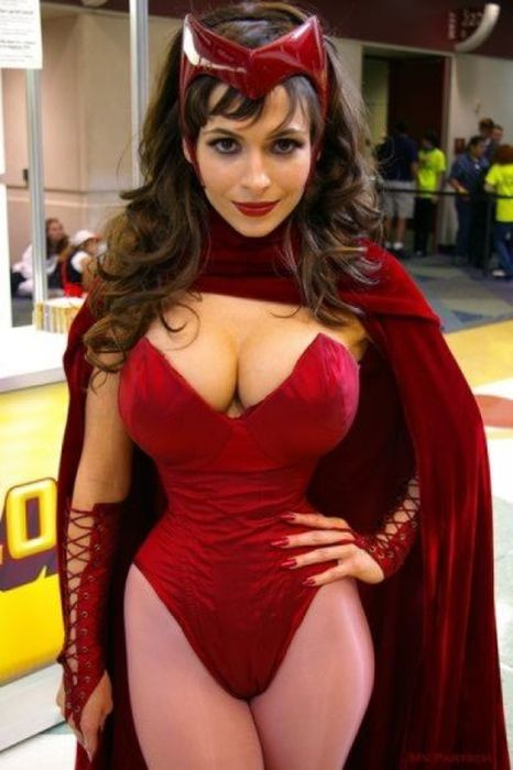 Red hot cosplay