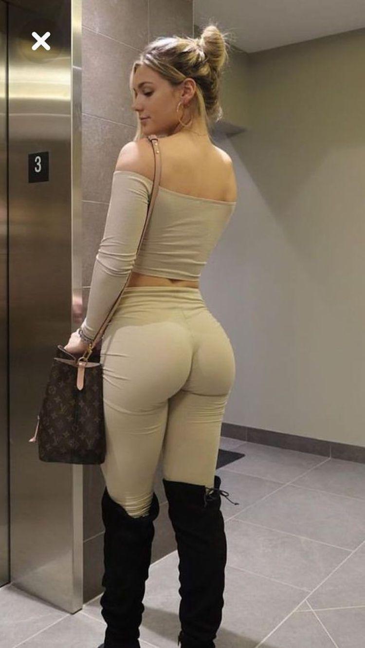 Sexy ass elevator babe