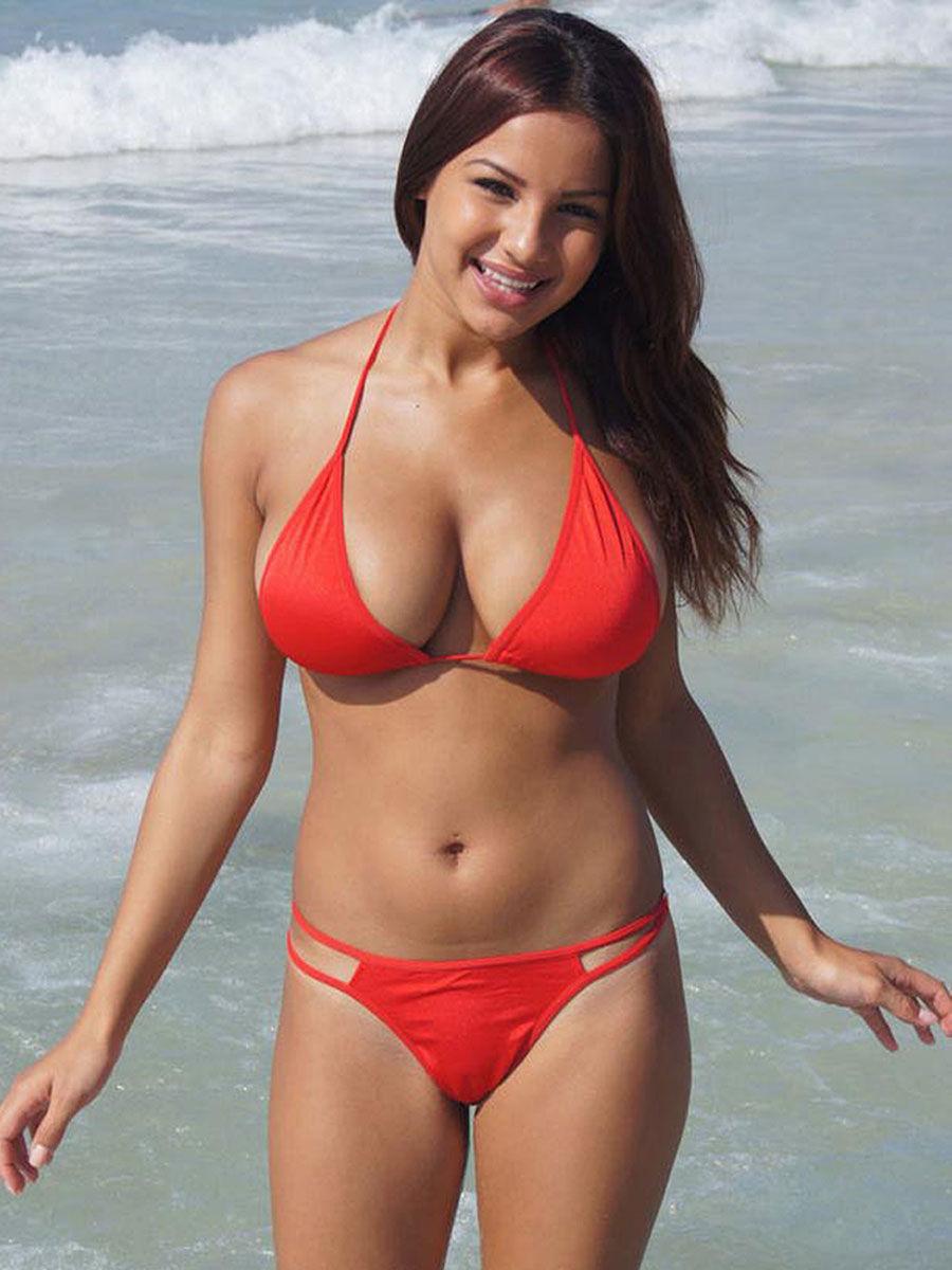 Red bikini babe