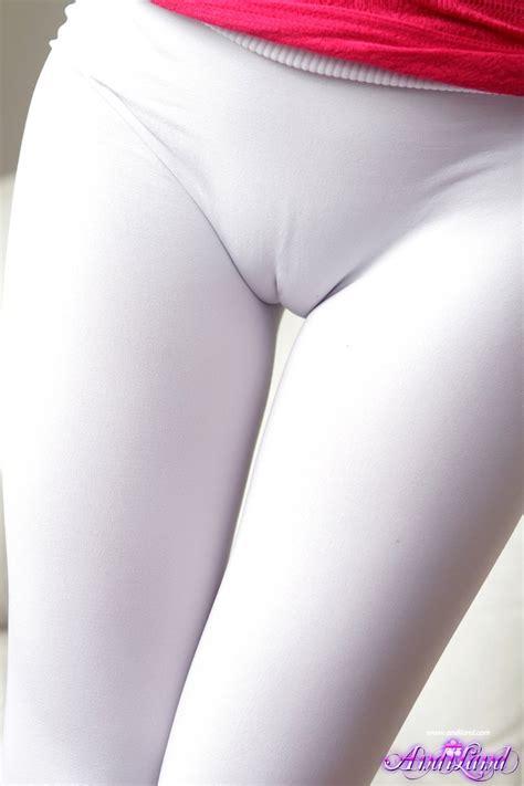 White tight cameltoe