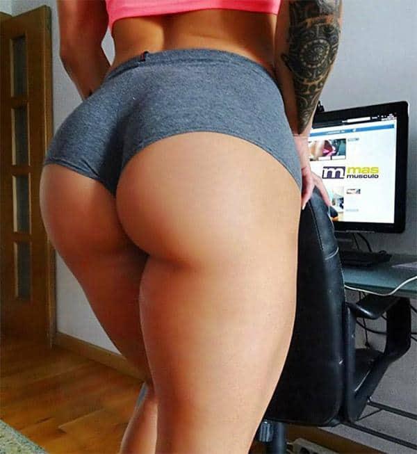 Tight shorts ass