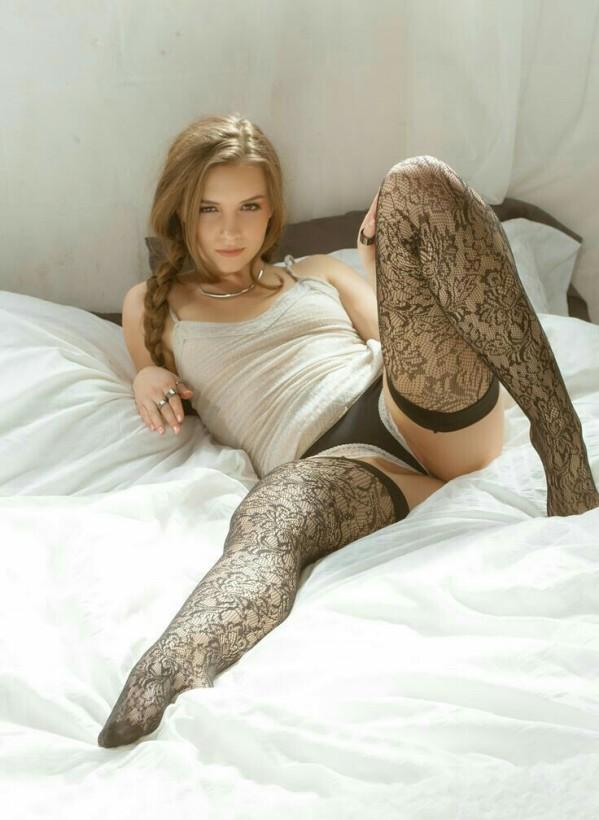 Spread legged babe