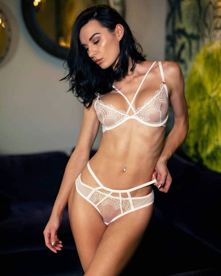 Sheer lingerie babe
