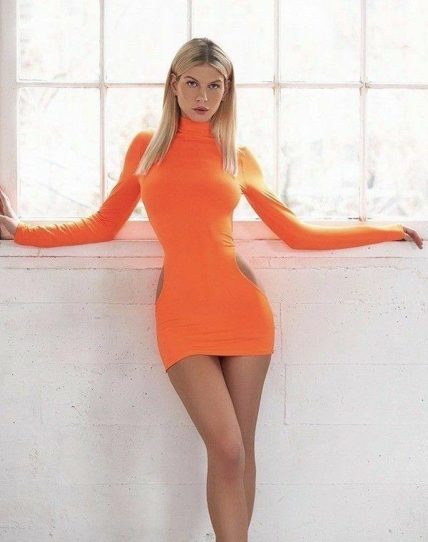 Sexy orange dress