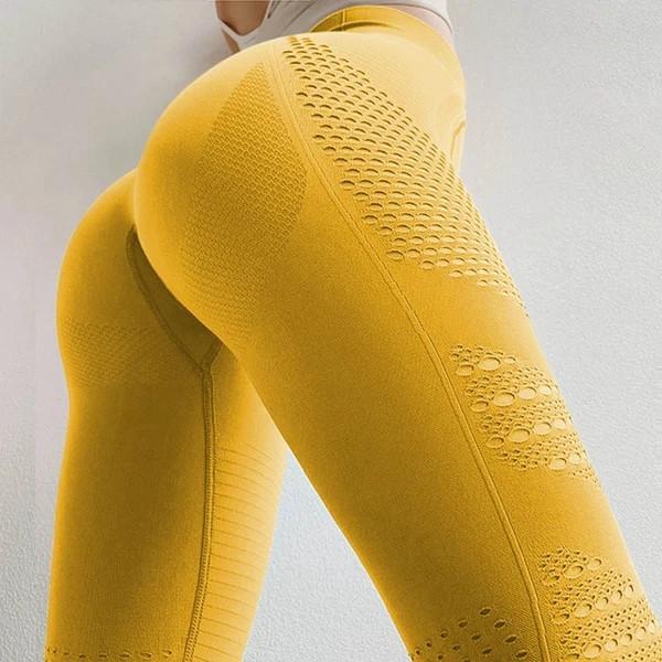 Yellow yoga pants upshot