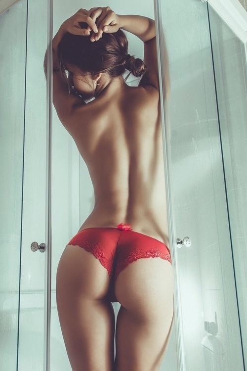 Girlfriend in red panties