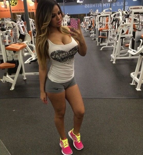 Big tits selfie babe